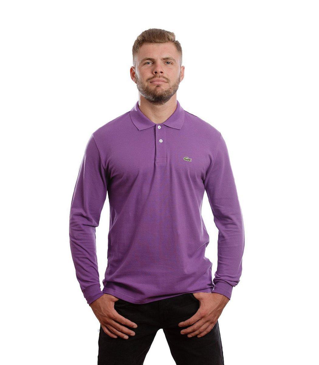 Поло с длинным рукавом Lacoste Classic (Фиолетовый) - Фиолетовый - Вид 2