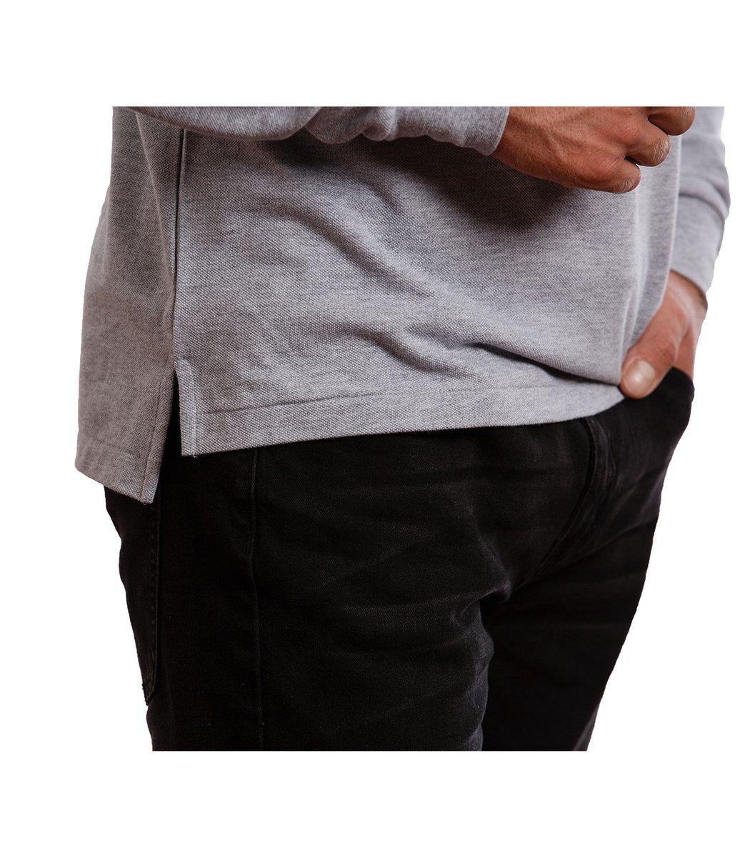 Серое поло с длинным рукавом POLO Ralph Lauren PR1  - Серый - Вид 5
