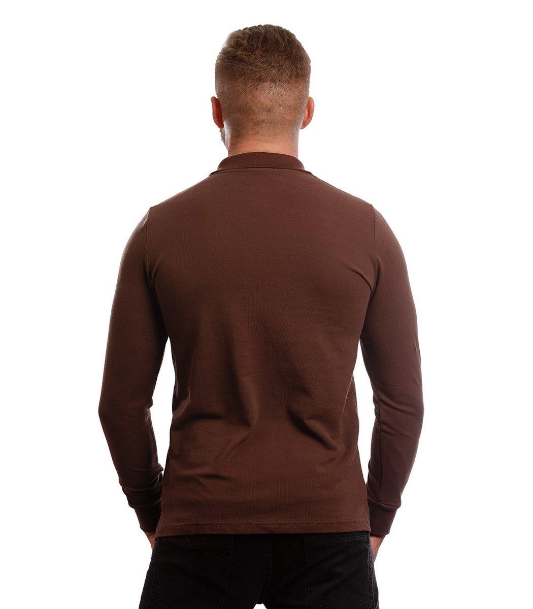 Коричневое поло с длинным рукавом POLO Ralph Lauren (Коричневый) - Коричневый - Вид 6