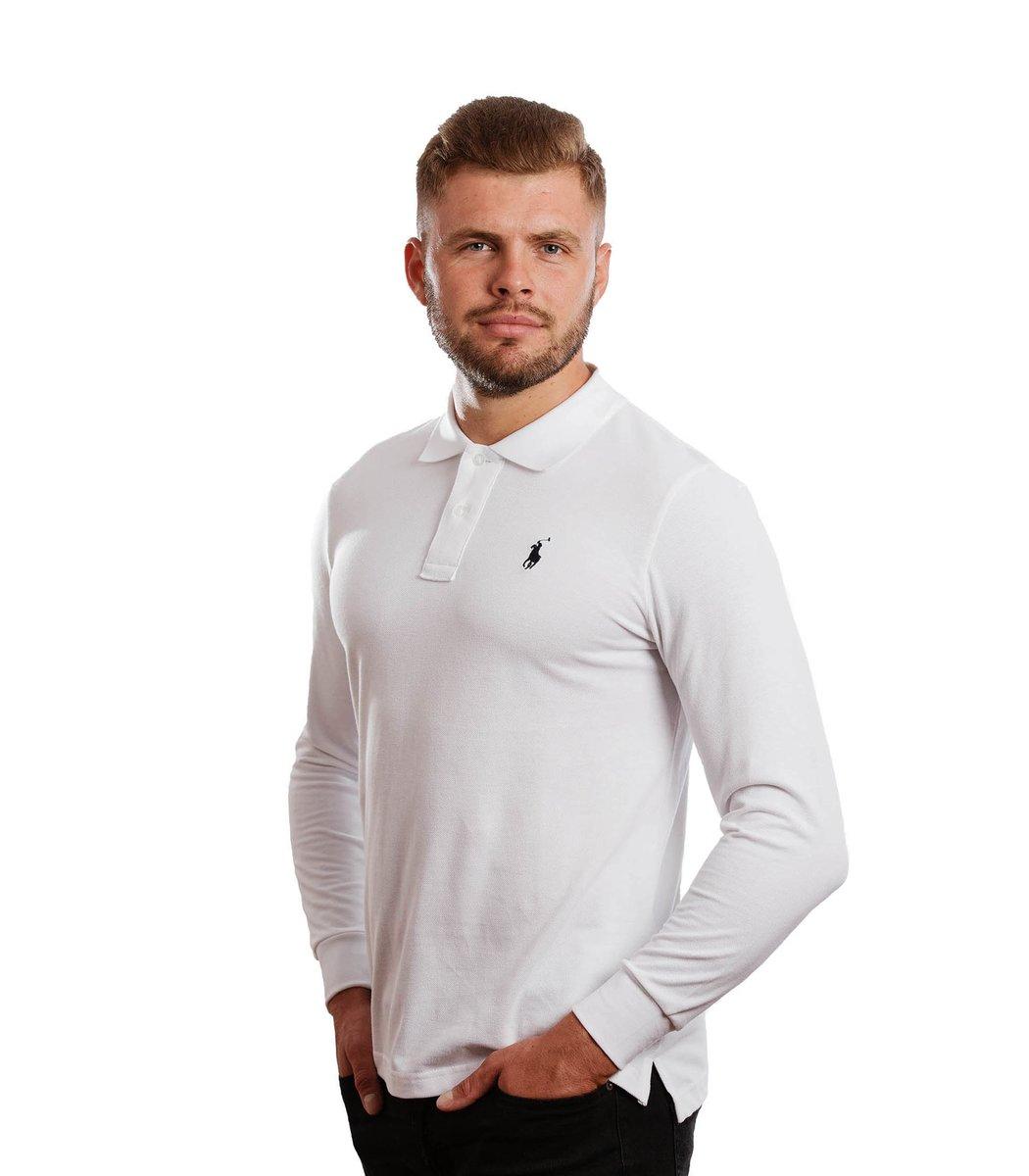 Белое поло с длинным рукавом POLO Ralph Lauren PR1