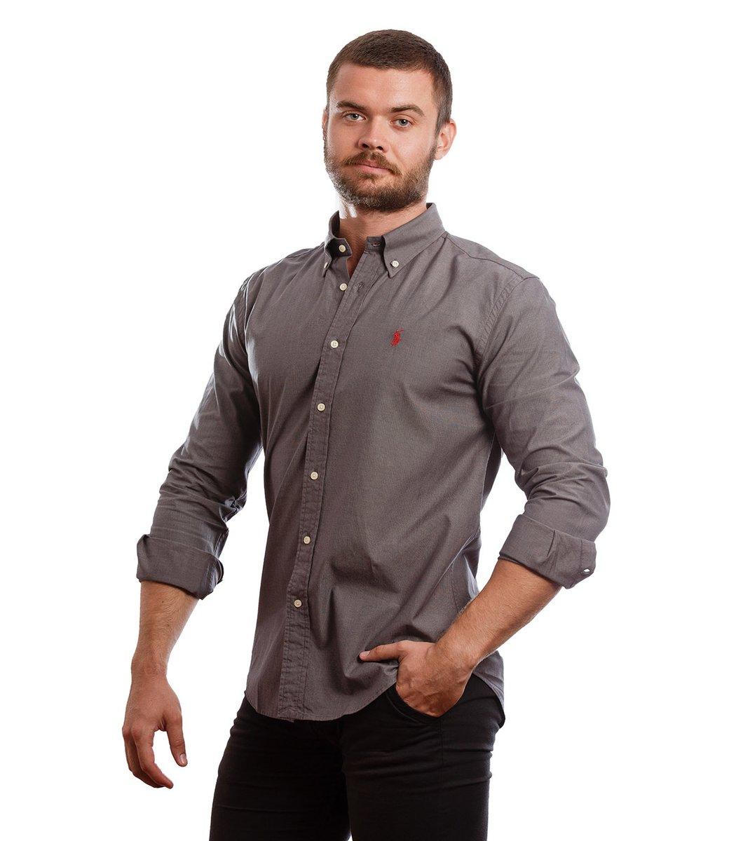 Рубашка POLO Ralph Lauren RR1 (Темно-серый) - Темно серый - Вид 3