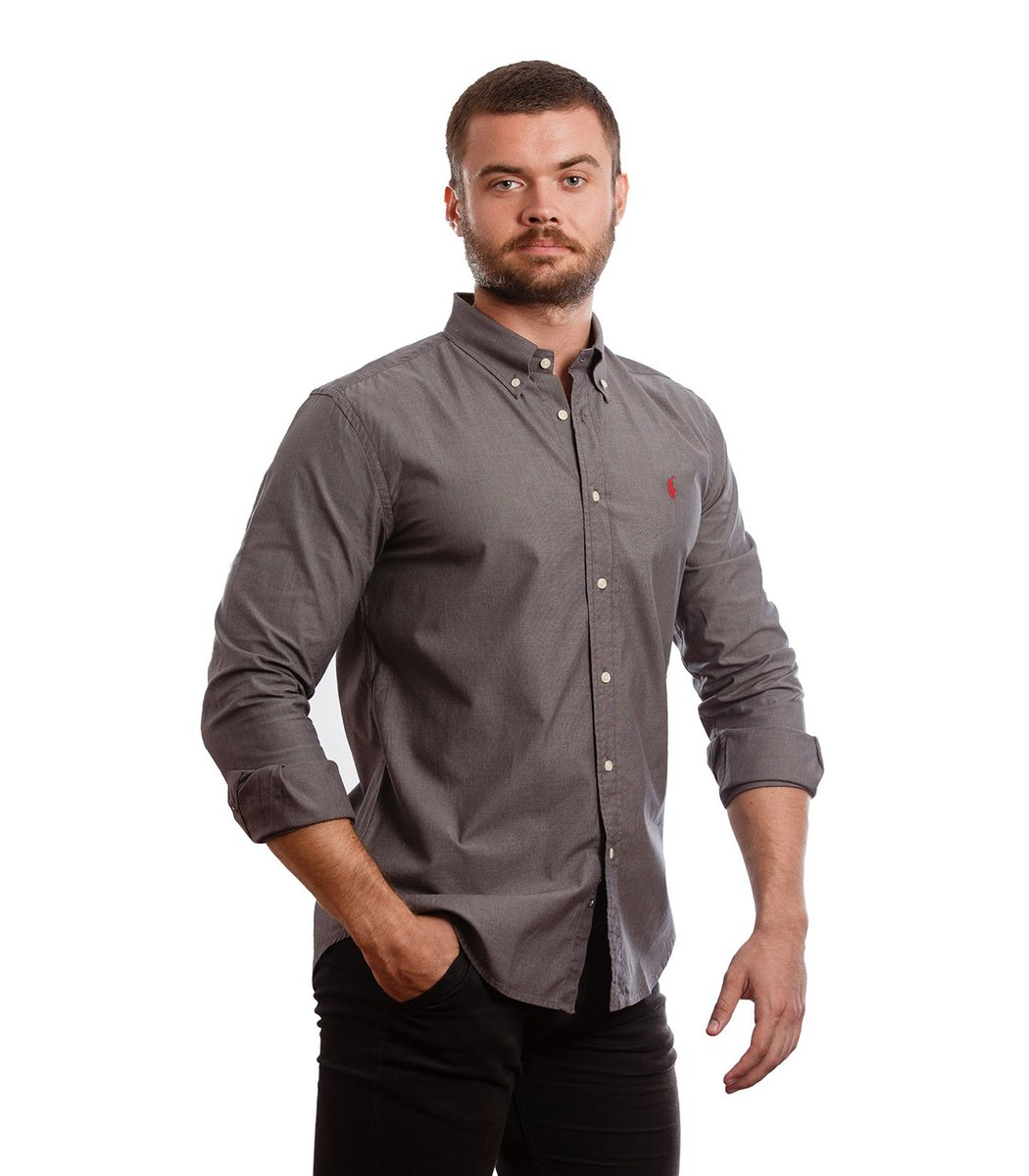 Рубашка POLO Ralph Lauren RR1 (Темно-серый) - Темно серый - Вид 4