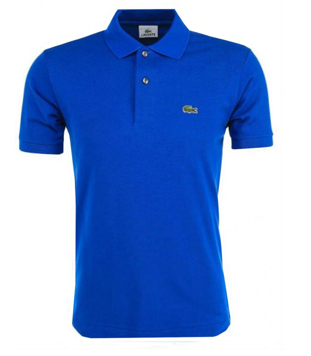 Мужская синяя футболка поло Lacoste