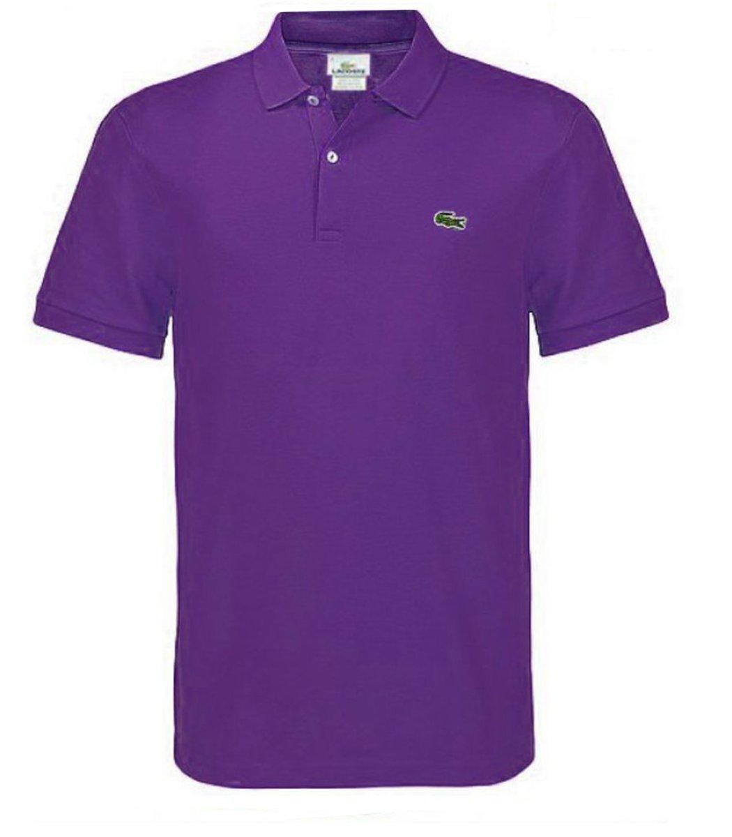 Мужская фиолетовая футболка поло Lacoste
