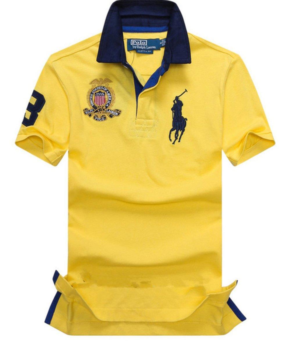 Мужская желтая футболка поло Ralph Lauren R5