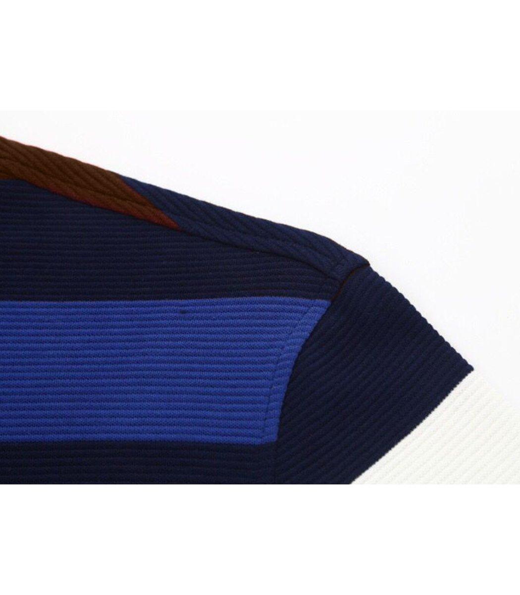 Поло с длинным рукавом Paul&Shark PP2 (Голубой/коричневый)