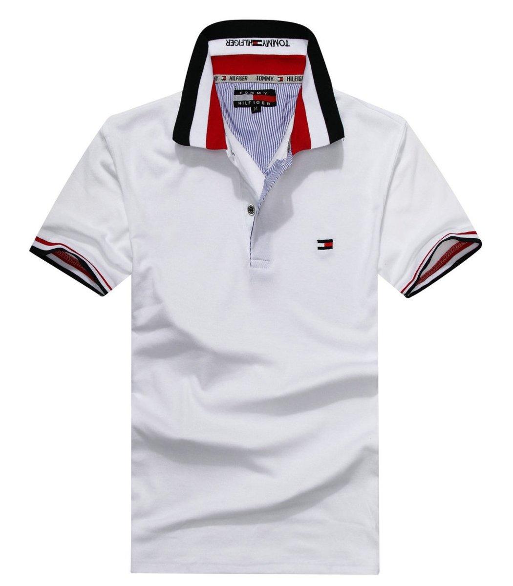 Мужская белая футболка поло Tommy Hilfiger - белый - Вид 1
