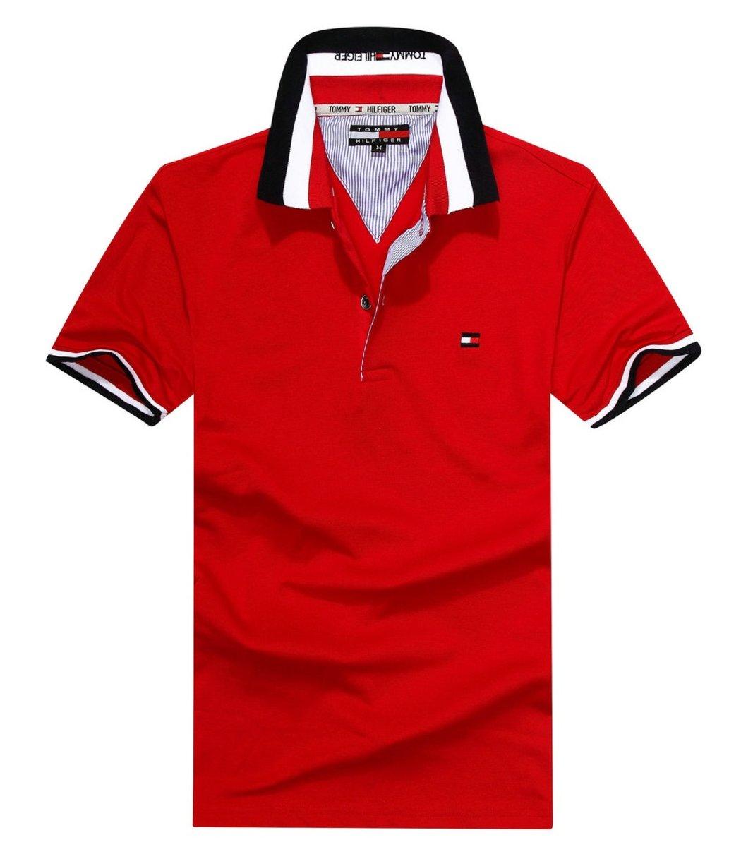 Мужская красная футболка поло Tommy Hilfiger