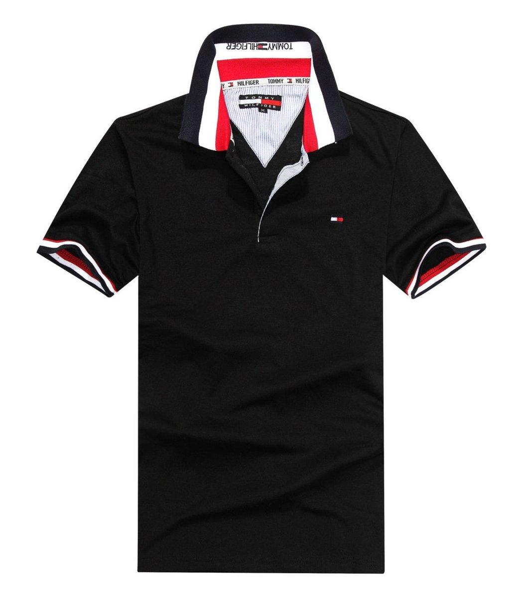Мужская черная футболка поло Tommy Hilfiger